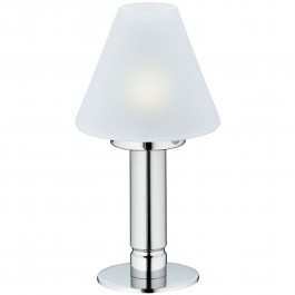 Table lamp with glass, satin Pure