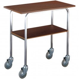 Iron rack with anthracite finish with wheels, without middle shelf Standard