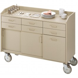 Serving trolley solid wood veneer Standard