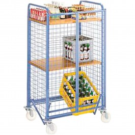 Serving trolley blue / beech Standard