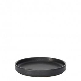 Plate flat GEO graphite Ø 14 cm