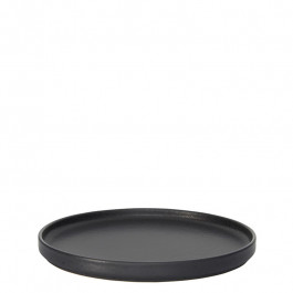 Plate flat GEO graphite Ø 22 cm