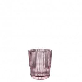 Glass rose h 9,6 cm