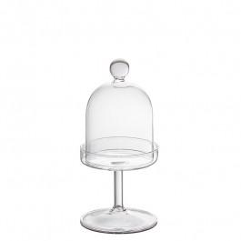 Cloche Glas on stand h 17 cm