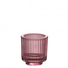 Glass rose h 8,5 cm
