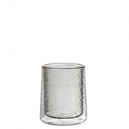 Glass double-walled smoke 10,5 cm