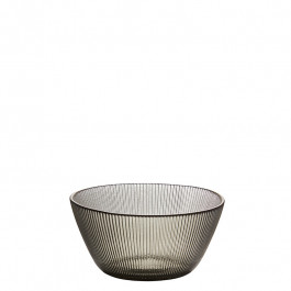 Glass Bowl smoke h 5 cm