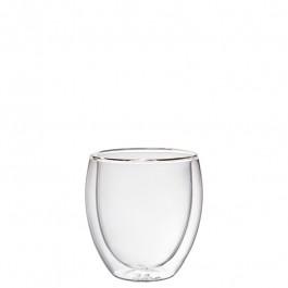 Glass bowl double-walled Ø7,5x9,5 cm