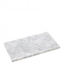 Plate marble white 28x16x1,2 cm