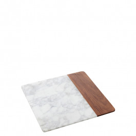 Board marble/wood square 25,4x25,4x1,5 cm