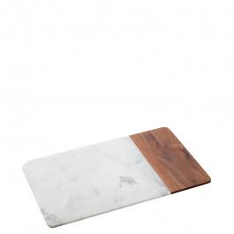 Board rectangular marble/wood 30,5x18,4x1,5 cm