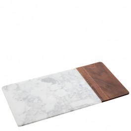 Board marble/wood rectangular 38,1x20x1,5 cm