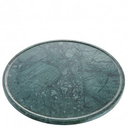 Plate L marble green Ø32 cm
