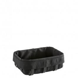 Bread basket S Steel black coated/cotton