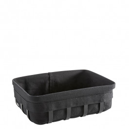 Bread basket M Steel black coated/cotton