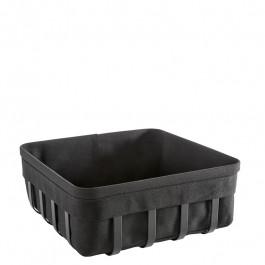 Bread basket L Steel black coated/cotton